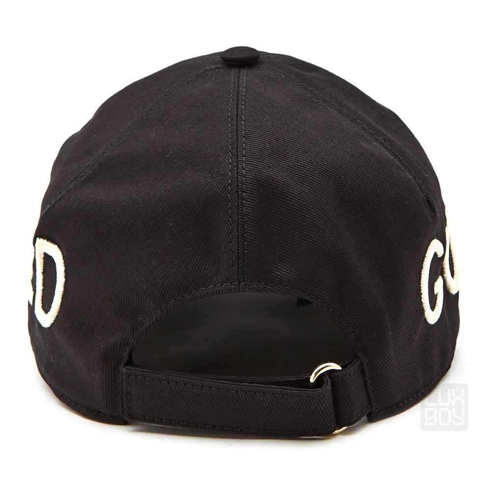 구찌(GUCCI) 로고 자수 478948 3HD05 1000 공용 모자